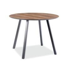 Stół okrągły OAKLAND 100 cm - orzech/czarny