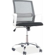 Fotel obrotowy Q-844 - czarny/biały