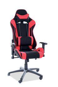 Fotel obrotowy gamingowy VIPER - czarny/czerwony
