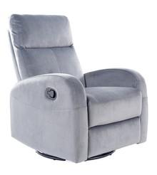 Fotel rozkładany OLIMP Velvet - szary Bluvel 14