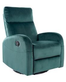 Fotel rozkładany OLIMP Velvet - zielony Bluvel 78