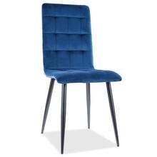 Krzesło OTTO Velvet - granatowy Bluel 86