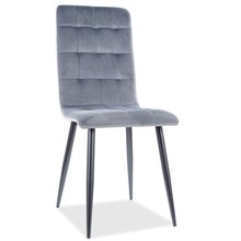 Krzesło OTTO Velvet - szary Bluvel 14