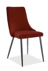 Krzesło PIANO B Matt Velvet - bordo