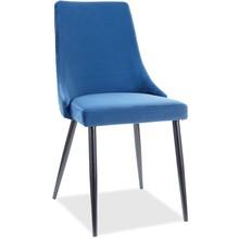 Krzesło PIANO B Velvet - granatowy Bluvel 86