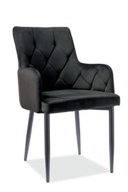 Krzesło RICARDO B Velvet - czarny Bluvel 19