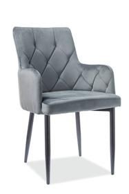 Krzesło RICARDO B Velvet - szary Bluvel 14