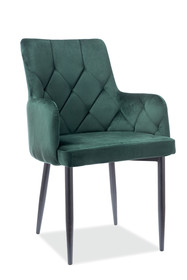 Krzesło RICARDO B Velvet - zielony Bluvel 78