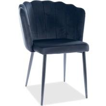 Krzesło ROKSANA Velvet - czarny Bluvel 19