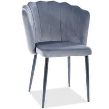 Krzesło ROKSANA Velvet - szary Bluvel 14