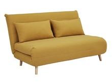 Sofa rozkładana SPIKE II curry - żółty