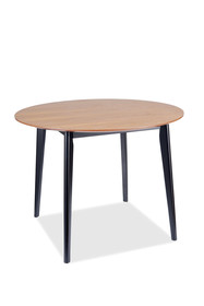 Stół okrągły TACOMA 100 cm - dąb/czarny