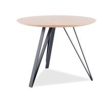 Stół okrągły TETIS 100 cm - dąb/czarny
