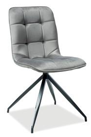 Krzesło TEXO Velvet - szary Bluvel 14