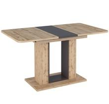 Stół rozkładany TWINS 140/180x80 - dąb wotan/brąz