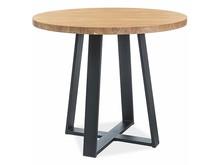 Stół okrągły VASCO LAMINAT 90 cm - dąb /czarny