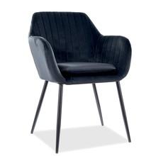Krzesło WENUS Velvet - czarny Bluvel 19