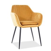 Krzesło WENUS Velvet - curry Bluvel 68
