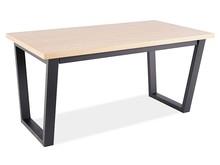 Stół rozkładany WILTON 160/210x85 - okleina naturalna dąb/czarny