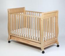 Łóżeczko dziecięce z opuszczanym bokiem ROMANTICA 120x60 - naturalny