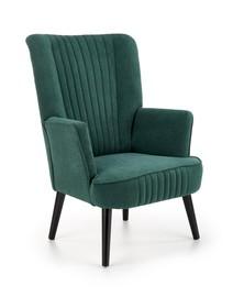 Fotel wypoczynkowy DELGADO - ciemny zielony Bluvel 78