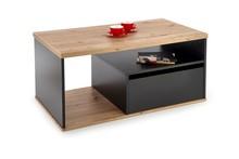Ława z szufladą PANTERA - dąb wotan/czarny