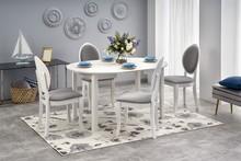 Stół okrągły rozkładany RINGO 102 cm - biały