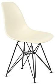 Krzesło DSR BLACK - migdałowy
