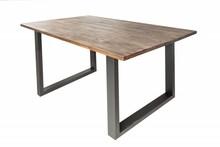 Stół do jadalni WOTAN II 180x90 - akacja/szary