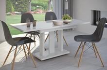 Stół rozkładany APPIA 130/170x80 - biały połysk