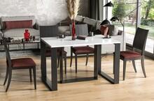 Stół rozkładany BORYS 130/250x80 - biały połysk