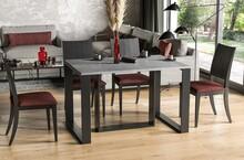 Stół rozkładany BORYS 130/250x80 - beton