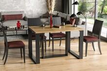 Stół rozkładany BORYS 130/250x80 - dąb wotan