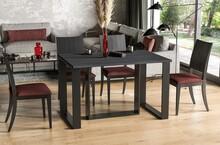 Stół rozkładany BORYS 130/290x80 - ciemny beton