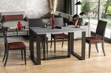Stół rozkładany BORYS BIS 130/190x90 - beton