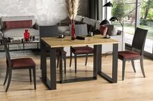 Stół rozkładany BORYS BIS 130/190x80 - dąb artisan