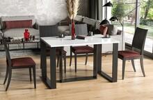 Stół rozkładany BORYS BIS 130/250x90 - biały połysk