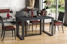 Stół rozkładany BORYS BIS 130/250x90 - ciemny beton