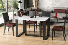 Stół rozkładany BORYS BIS 130/310x90 - biały połysk