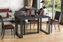 Stół rozkładany BORYS BIS 130/310x90 - ciemny beton