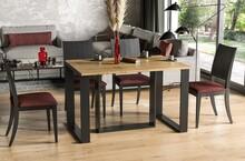 Stół rozkładany BORYS BIS 130/310x90 - dąb wotan