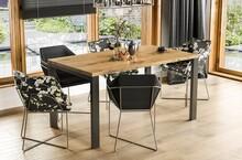 Stół rozkładany GARANT 80/125x80 - dąb artisan