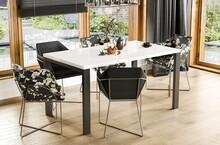 Stół rozkładany GARANT 130/265x80 - biały połysk