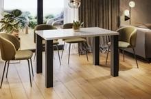 Stół rozkładany JUKA 80/170x80 - biały połysk