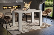 Stół rozkładany NISA 130/220x80 - biały połysk