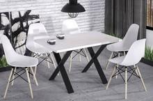Stół rozkładany X170 130/170x80 - biały połysk