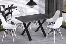 Stół rozkładany X170 130/170x80 - ciemny beton