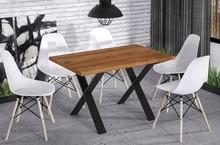 Stół rozkładany X170 130/170x80 - dąb stirling