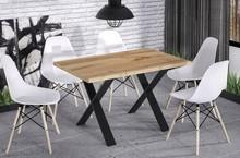 Stół rozkładany X170 130/170x80 - dąb wotan