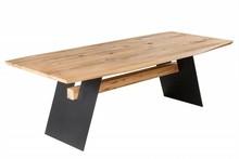 Stół do jadalni GRAND OAK 240 cm - naturalny dąb/czarny